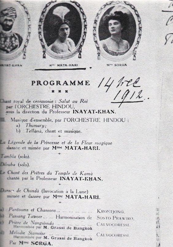 Programma optreden Mata Hari -1912