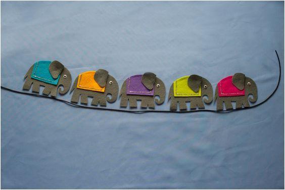 Five Grey Elephants Felt Board Set