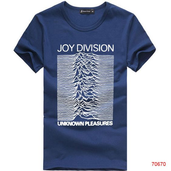 European Size Joy Division Unknown pleasures Tee T-Shirt Rock and Roll