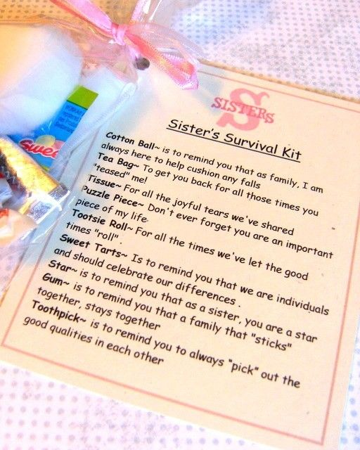 ... gift for Sister's | Sister Survival Kit, Survival Kits and Survival