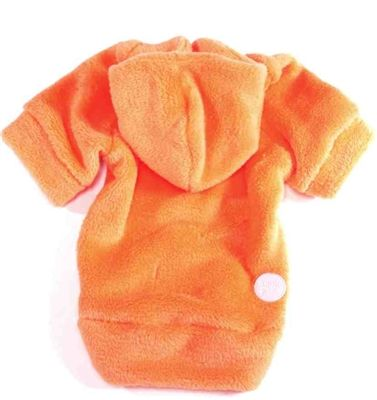 Romy + Jacob Tangerine Orange Super Soft Whisper Fleece Dog Hoodie
