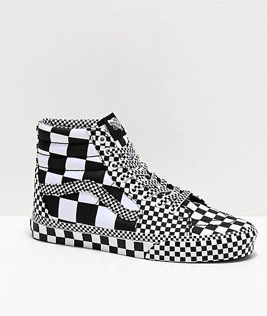 Vans Sk8-Hi All Over Checkerboard Black