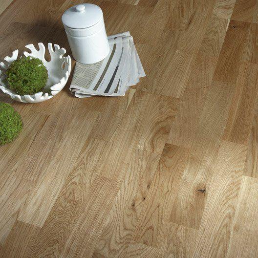 Parquet Contrecolle Chene Blond Vitrifie Multifrise Artens Line Wood Floors Hardwood Flooring