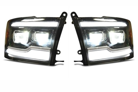 2009 2018 Dodge Ram Xb Led Headlights With Images Led