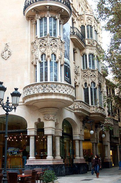 Art-Nouveau architecture in Palma de Mallorca, SPAIN. (by twiga_swala).