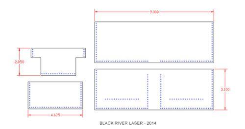 Base-Cartera-plantilla-Set-laser-de-precision-de-corte-Para-El-Cuero-Crafters-mwts