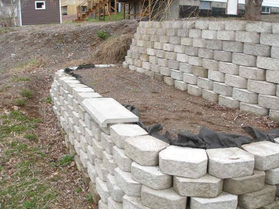 New retaining wall block concrete mold wet castings for Concrete log forms