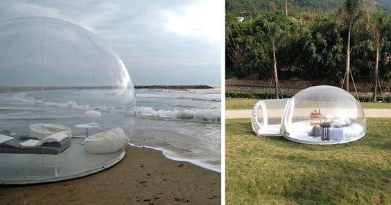 Esta tienda de campaña en forma de burbuja transparente te permite dormir bajo las estrellas   Bored Panda