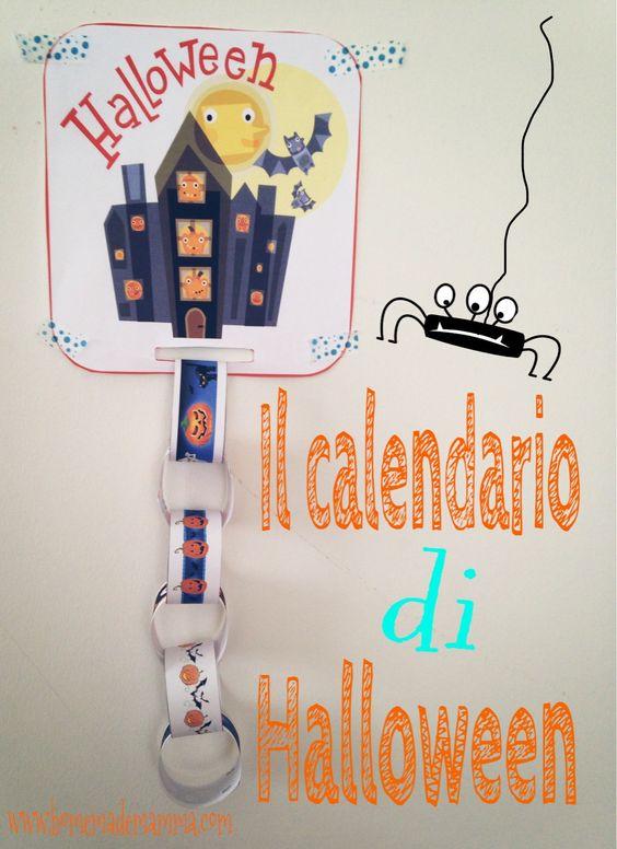 """Il calendario """"conto alla rovescia"""" di Halloween da stampare ed assemblare. - Advent calendar Halloween DIY"""