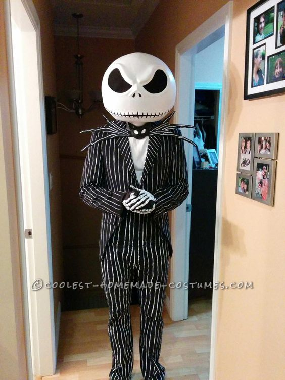 Homemade Jack Skellington Costume