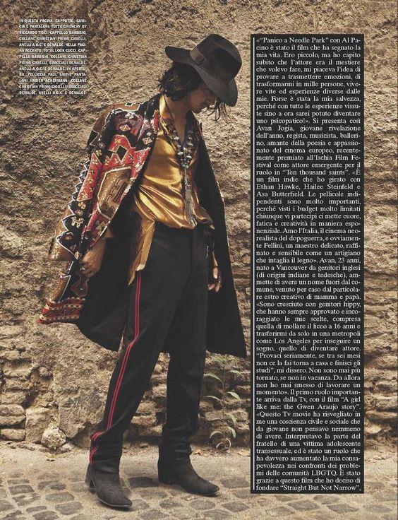 Avan Jogia em estilo Bohemian para L'Uomo Vogue 02