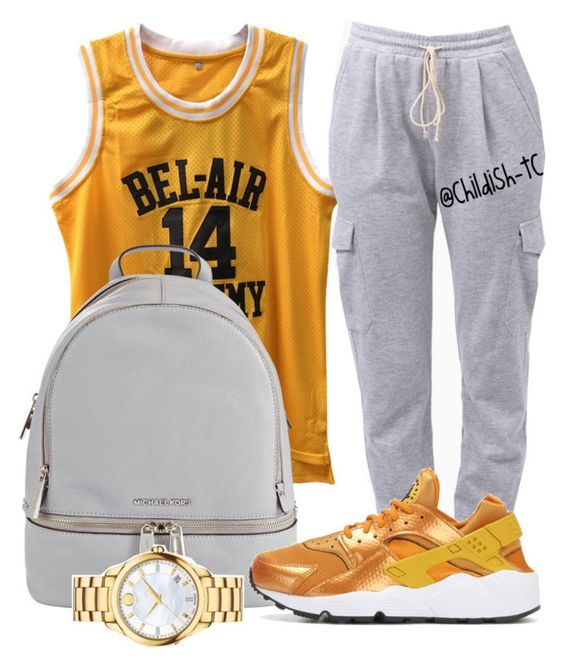 """""""Untitled #375"""" by childish-tc ❤ liked on Polyvore featuring MICHAEL Michael Kors, Movado, Tobi and NIKE"""