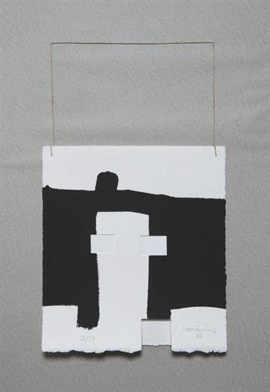 Eduardo Chillida - Paris, 1995, Screenprint and... on MutualArt.com