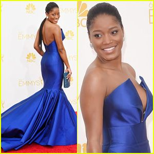 Keke Palmer Rocks Royal Blue on Emmys 2014 Red Carpet