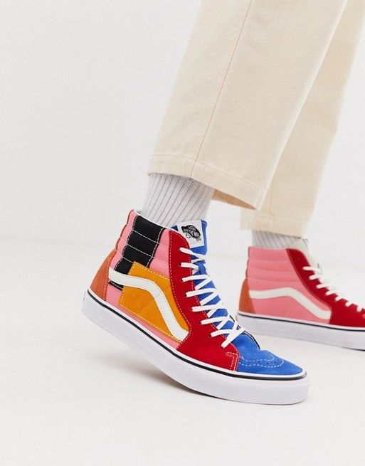Vans Sk8-Hi color block sneakers in