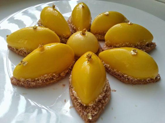 """I Dolci di Pinella: Paquerettes....al Mango, Cocco e """"quasi Yuzu"""""""