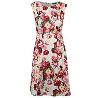 Textured Floral Print Drop Waist Fit and Flare Dress | Women | George at ASDA