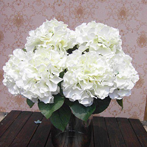 "SoooKu Artificial Hydrangea Flower 5 Big Heads Bounquet (Diameter 7"" each head) 7 Colors Avaliable SoooKu http://www.amazon.com/dp/B00KZGY500/ref=cm_sw_r_pi_dp_hem9tb0FM29QM"