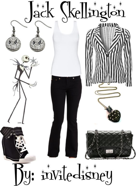 """Jack Skellington"" by invitedisney ❤ liked on Polyvore"