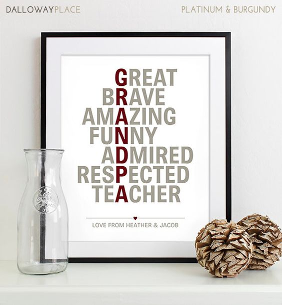 Wedding Gifts For Parents And Grandparents : Gift for Grandparents Gift for Grandma, Grandpa, Grandfather ...