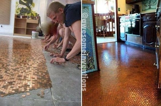 Penny covered floor!