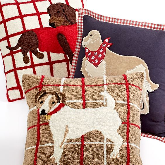 Martha Stewart Collection Bedding, Dog Decorative Pillows Christmas Pinterest Shops ...