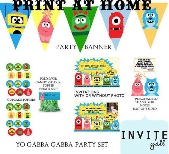 Yo Gabba Gabba Party Printables