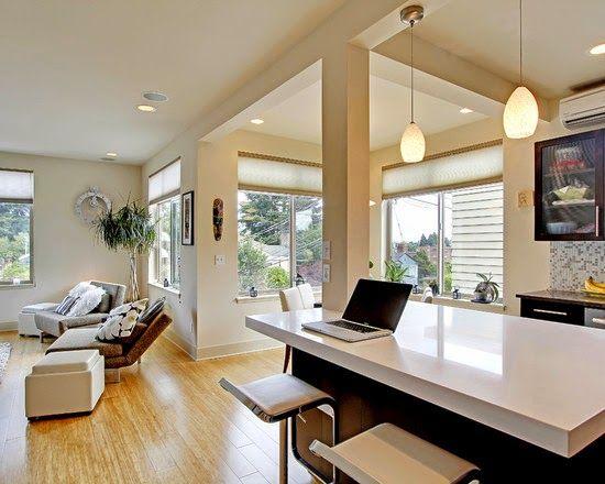 Vista salón - Apartamento En Blanco Nuestras Estancias con Arte - departamento de soltero moderno pequeo