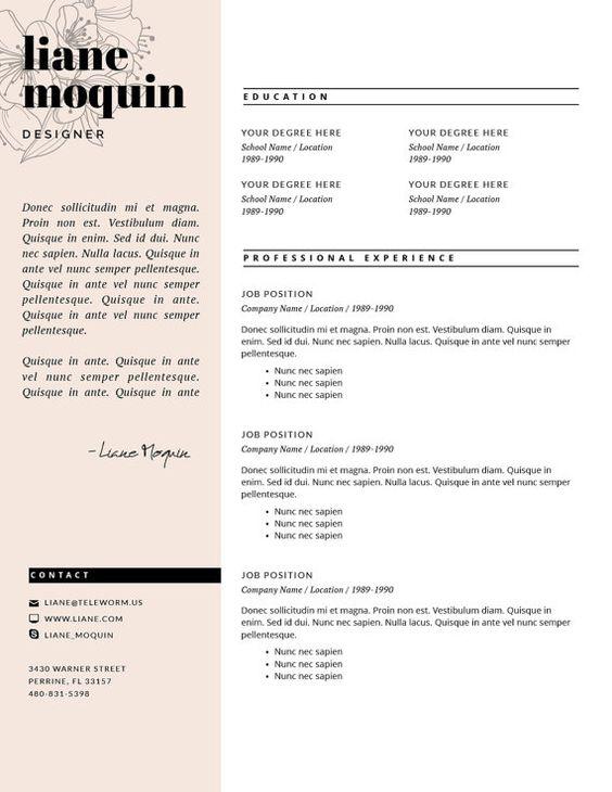 Hair Stylist/Beautician/Salon/Cosmetology Resume Template - Resume