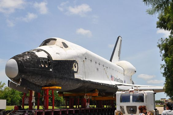 Houston gets a wooden shuttle!  Best part is you get to go in it once the renovations are complete.