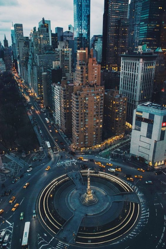 Flying above Columbus Circle New York City Anthony Quintano Flickr