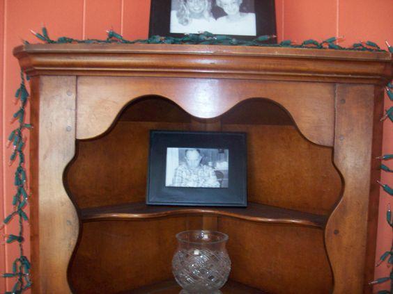 - Happiness' Garage Antique Corner Cabinet And Woods