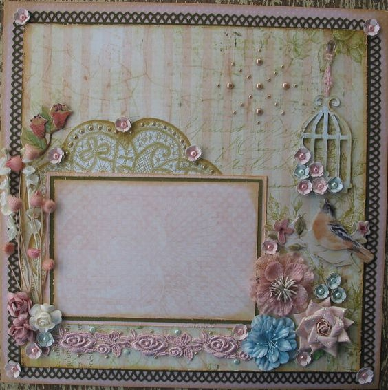 Sweet Romance Shabby Chic Vintage Premade 12x12 Layout ...