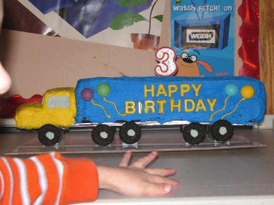 Nicolas's Tractor Trailer Cake