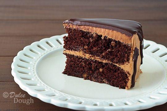 Chocolate Peanut Butter Cake with Ganache Glaze: Cakes Cupcakes, Layer Cakes, Groom Cake, Moist Cakes, Chocolate Peanut Butter, Peanut Butter Cakes, Cake Recipes, Birthday Cakes