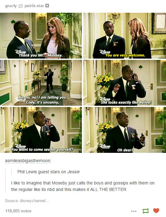 I like to imagine tht Moseby just calls the boys and gossips with them on the regular like its nbd and that makes it ALL THE BETTER