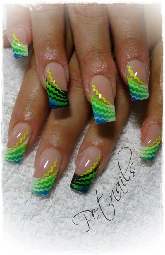 colorful crinkles nails pinterest neongr n gr ne n gel und mauve. Black Bedroom Furniture Sets. Home Design Ideas