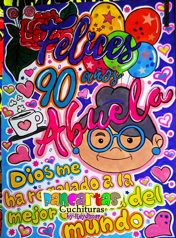 Minipancarta De Cumpleaños Hand Lettering Banner Lettering