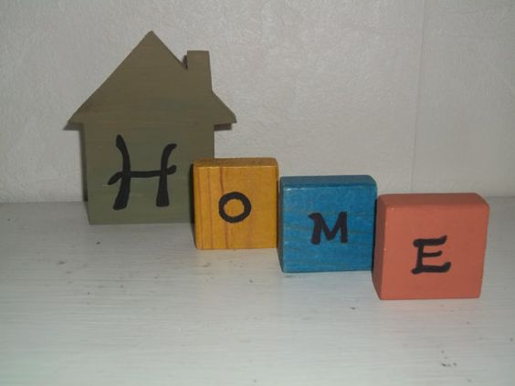 HOME  RUSTIC Handmade Decorative Wooden blocks by The2SistersStuff, $13.00