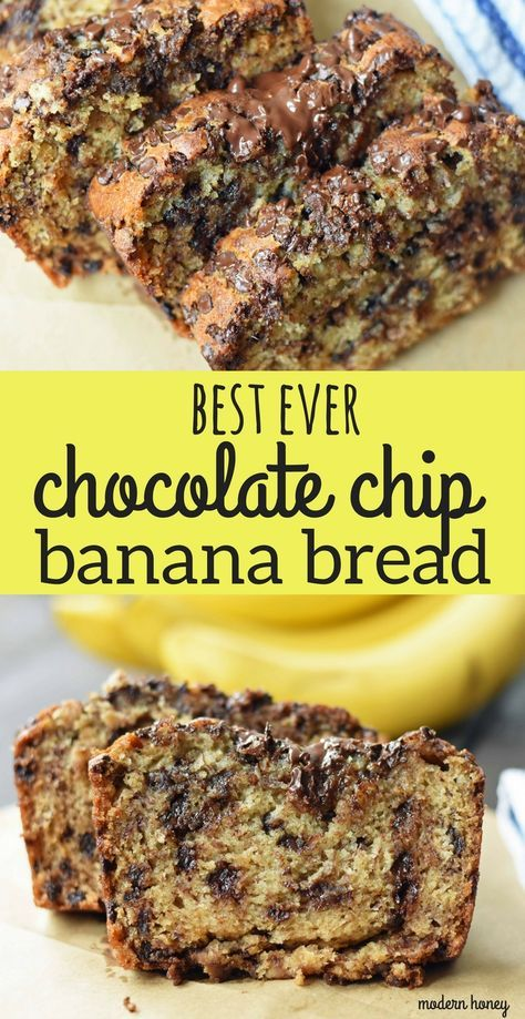 The Best Ever Chocolate Chip Banana Bread Moist And Delicious Banana Bread Wit Perfect Banana Bread Sour Cream Banana Bread Chocolate Chip Banana Bread Recipe