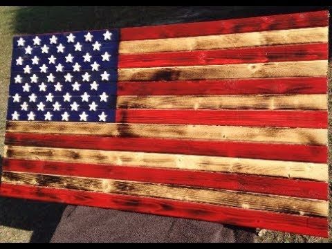 Rustic American Flag Stained Diy Youtube Rustic American Flag American Flag Wood Wood American Flag Diy