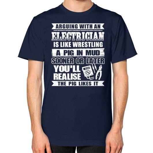 A PIG IN MUG SOONER Unisex T-Shirt (on man)