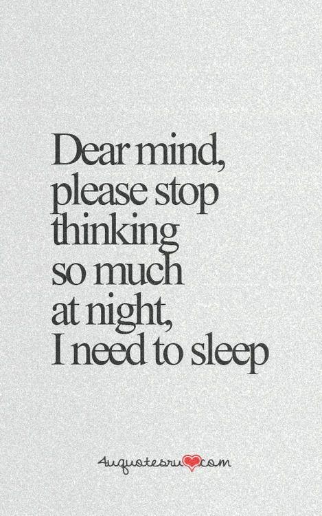 Must... have... sleep...