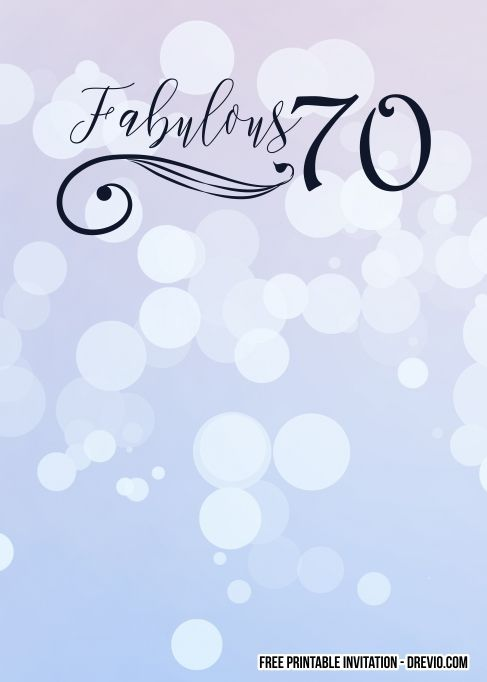free printable 70th birthday invitation