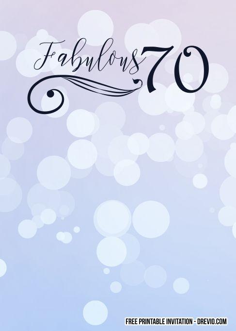 Pin On 70th Birthday Invitations