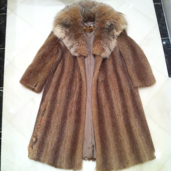 Real Fur Coat by Blum's Vogue This coat is two types of fur and