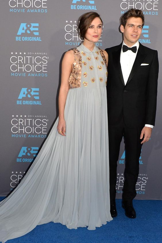 Critics' Choice Movie Awards 2015: Keira Knightley, in Delpozo, with James Righton