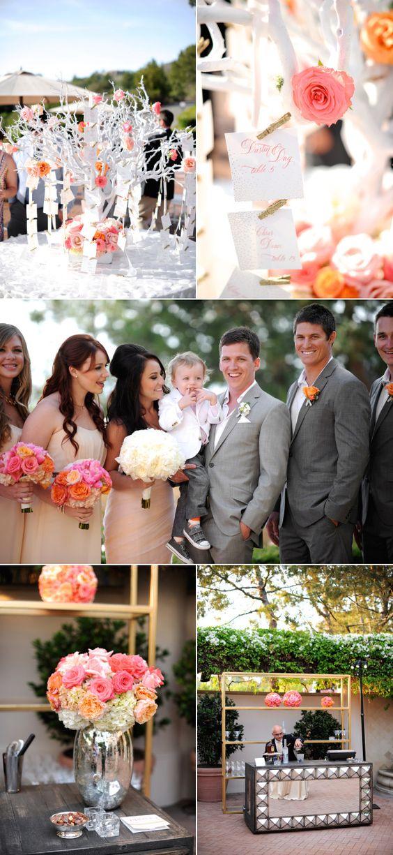 Sunset Inspired Newport Wedding | Style Me Pretty | California Weddings