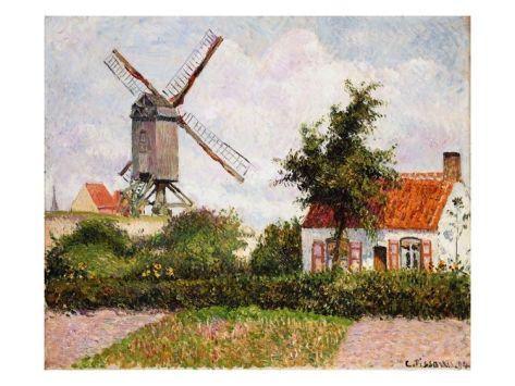 Mill in Knocke, Belgium Giclee Print by Camille Pissarro