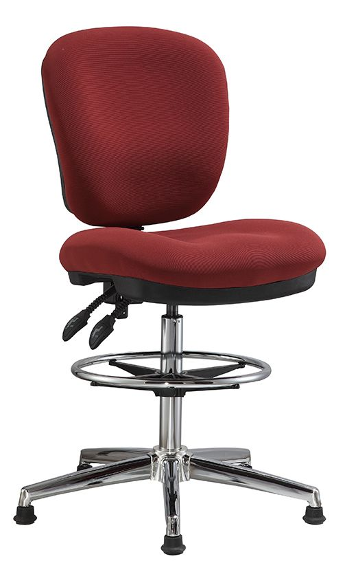 Fabric Office Drafting Chair Height Adjustable Operator Chair Counter Cashier Computer Chair China Foshan Staff Office Chai Drafting Chair Chair Chair Height